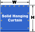 Solid Hanging Curtain